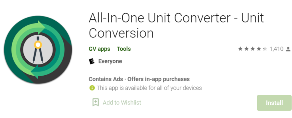 Unit Conversions icon and title