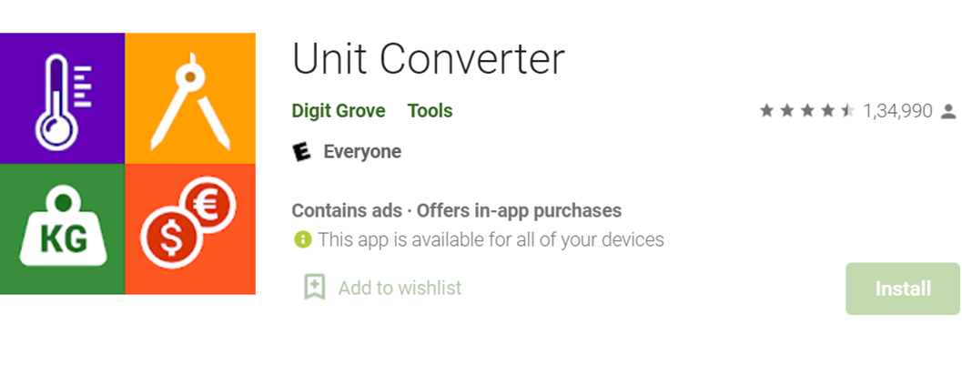 Unit Converter icon and title