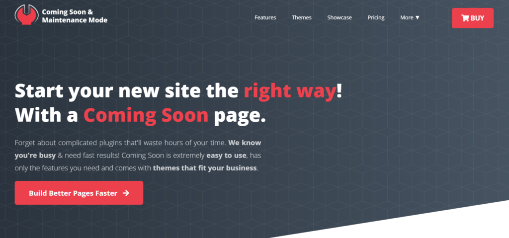 Coming Soon and Maintenance Mode homepage