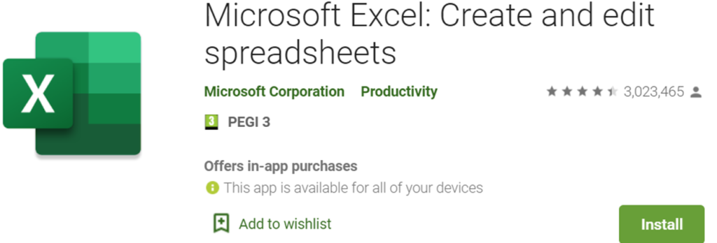 Microsoft Excel icon and banner