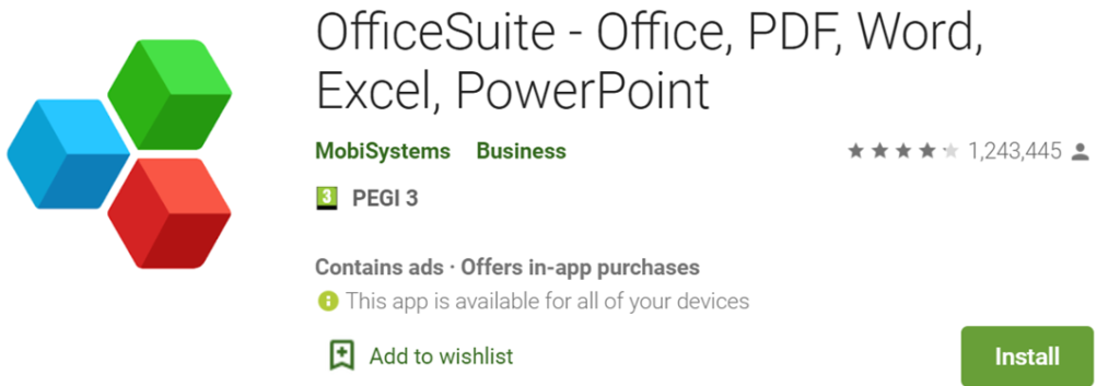 OfficeSuite icon and name
