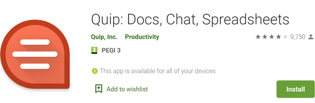Quip icon and name