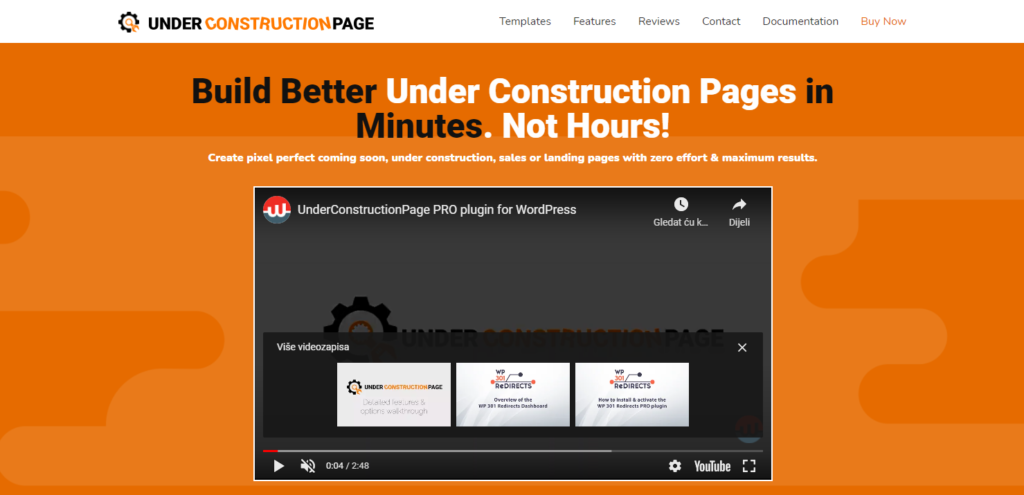 Under Construction Page homepage