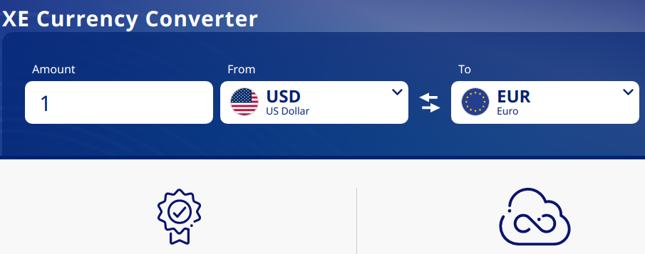 Xe Currency Converter homepage