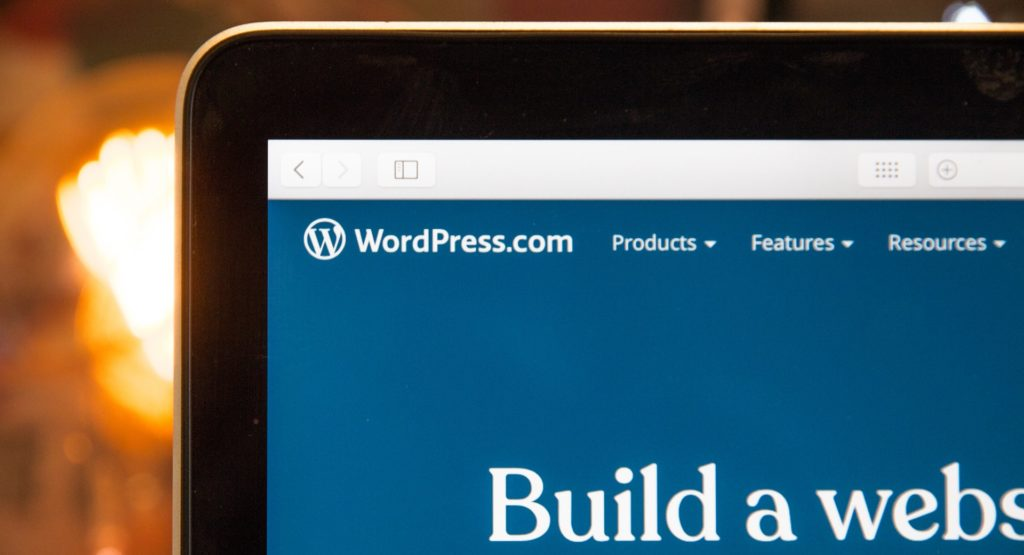 Image of WP on screen