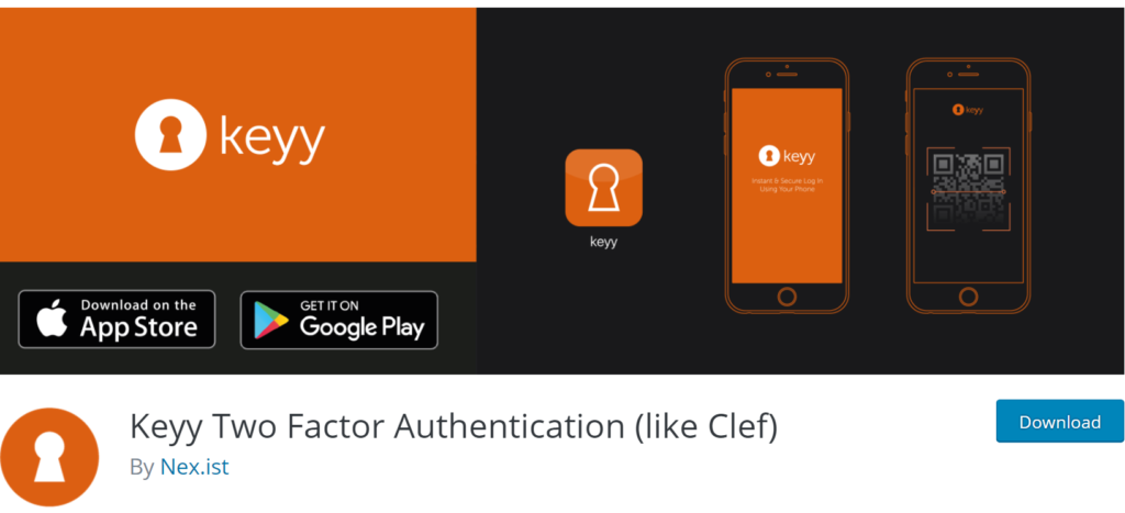 Keyy Two Factor Authentication banner